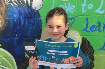 Birchville School surprise Movin'March awards!