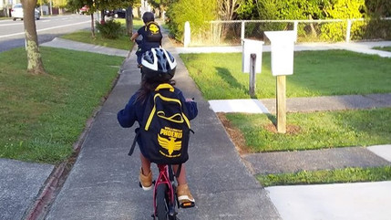 Biking to kura