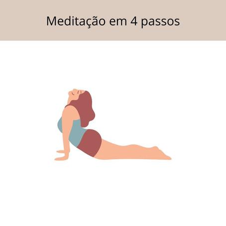 Meditação para descansar a mente - 4 passos