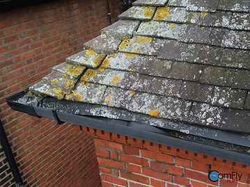Drone Photography of Damaged roof