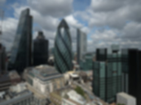 Aerial view of central London buildings