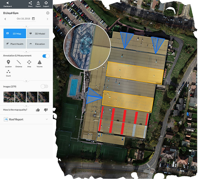 Drone mapping on building