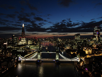 Drone photography of Tower bridge