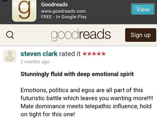 What? A Goodreads review was hiding out there!  Woo hoo!