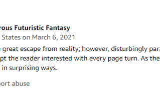 Wha-What?? A new 5-star review! Woo hoo!