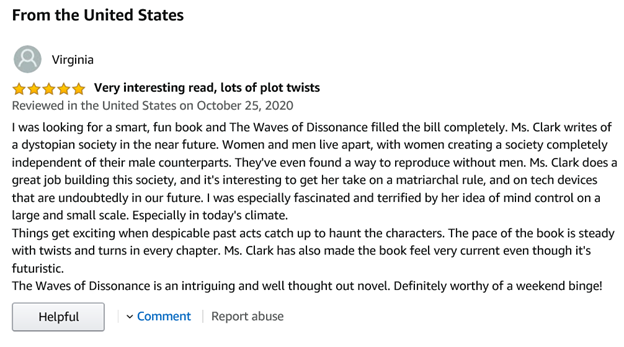 1st Amazon Review!  Woo Hoo!