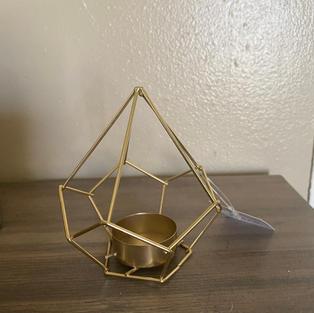 Gold geometric votives