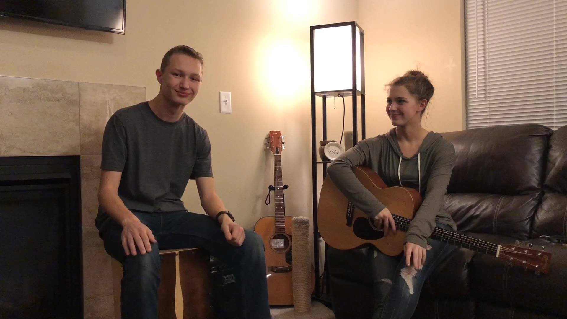 CASTLE ON A HILL // by Ed Sheeran // Cover by Jena Rhys & Caleb Johansen
