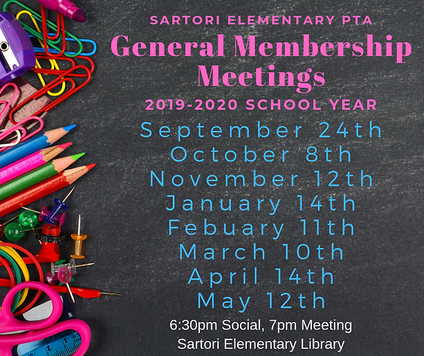 Sartori Elementary PTA General Membershi