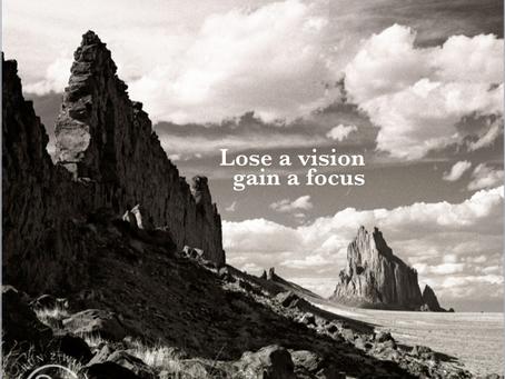 Lose a vision, gain a focus - Cowgirl Chronicles