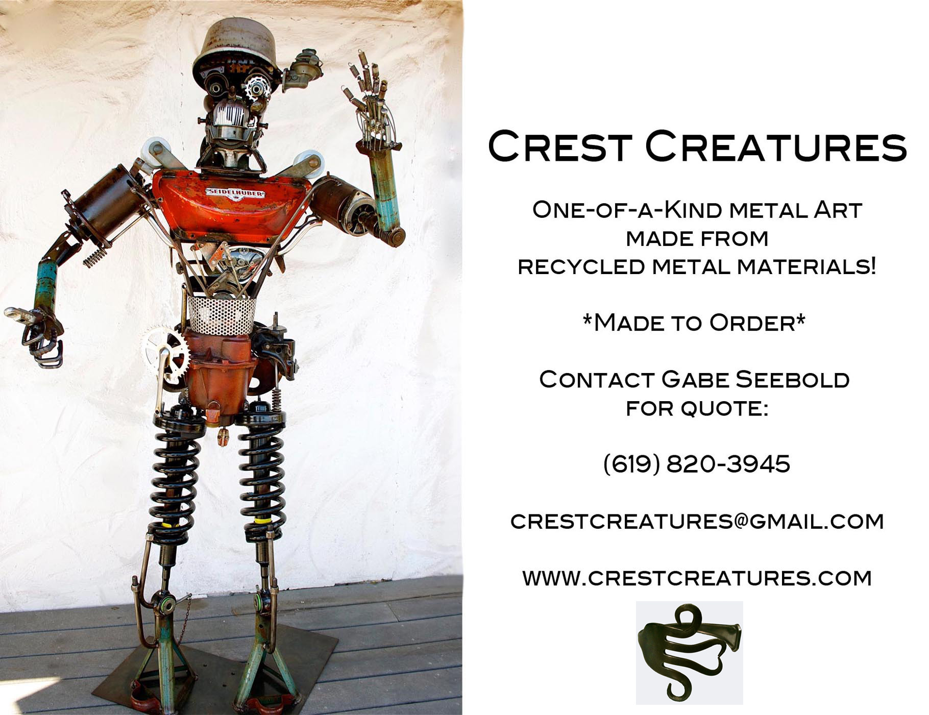 Crest Creatures Postcard Back