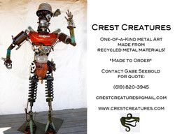 Crest Creatures Postcard Back