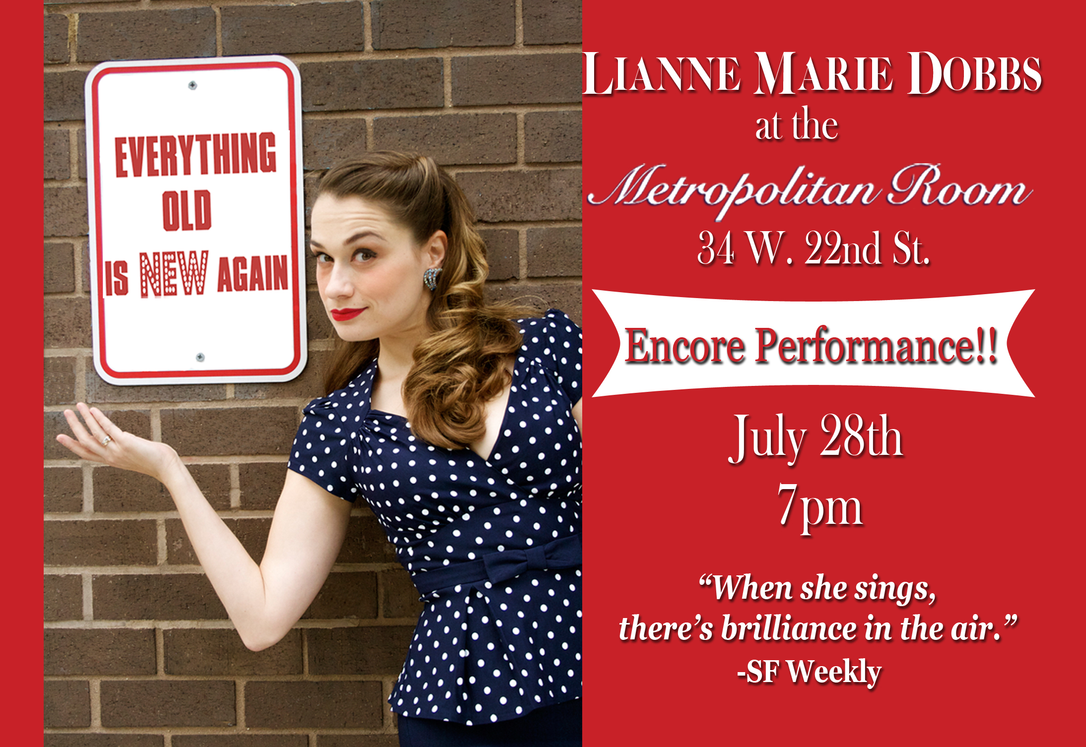 Lianne Marie Dobbs Cabaret Postcard