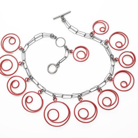 Red Spirals necklace
