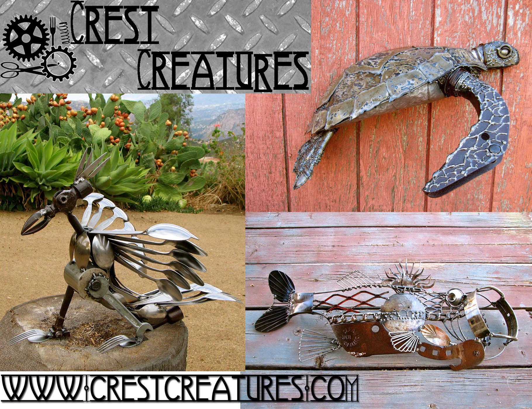 Crest Creatures Postcard