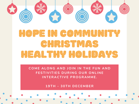 Coming next week our Christmas Healthy Holidays Progamme
