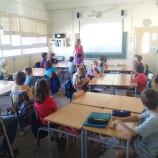 Charla escola Bosc amb alumnes de 3er.