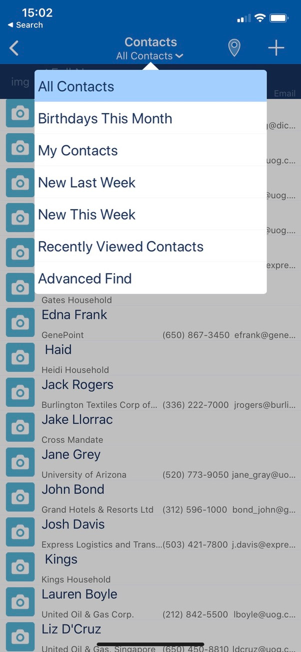 Resco-contacts-list-view
