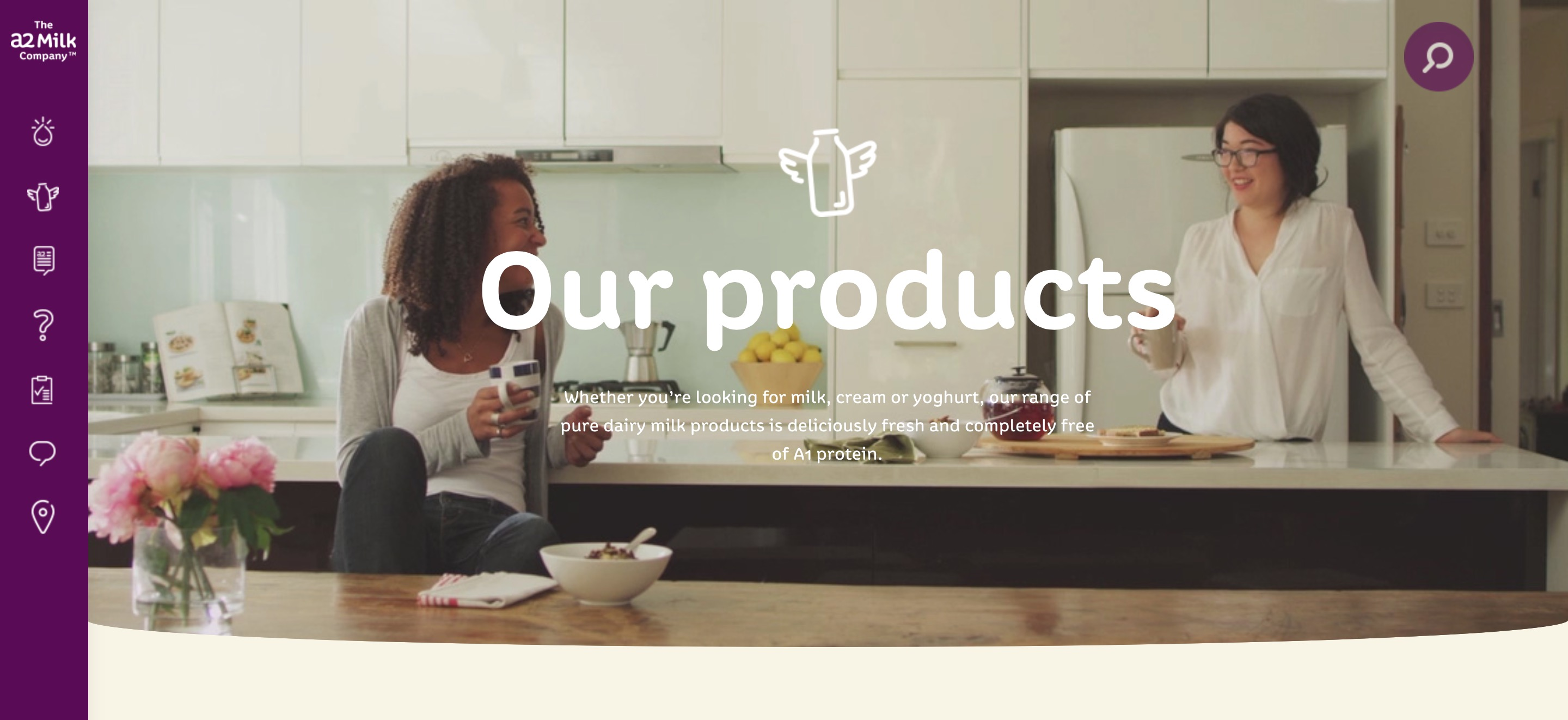 A2 Milk Moving web banner