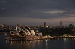 Opera house last light