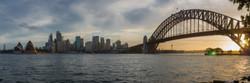 City and Harbour Bridge Dusk