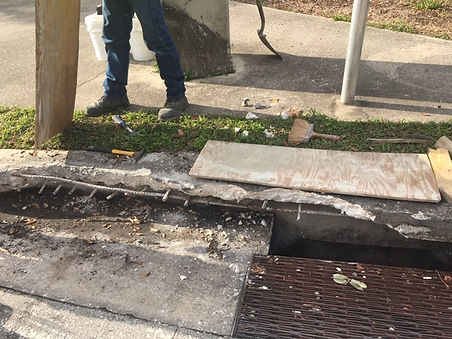 Damaged Curb Orlando.JPG