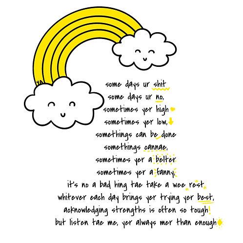 Yer Enough Poem - Print