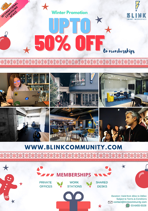 Discount for memberships at Blink