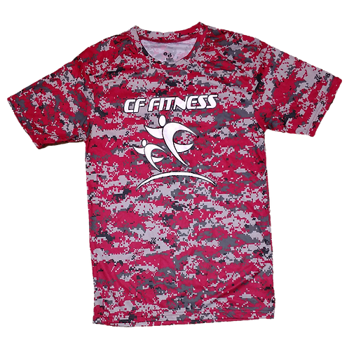 Kids CF Fitness T-Shirt - Camo - Red