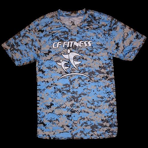 CF Fitness T-Shirt - Camo - Blue