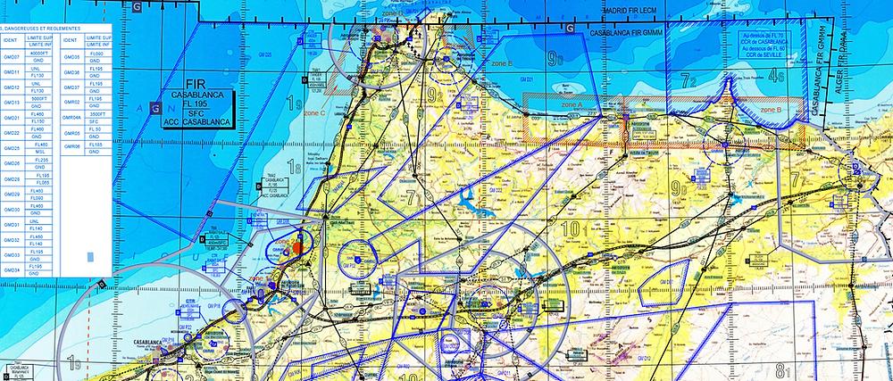 Flugplanung Flugplatze Und Vfr Karten In Spanien Und Marokko