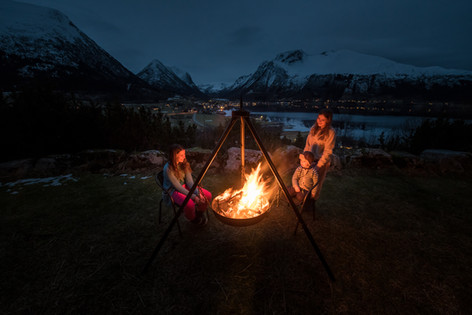 Make a bonfire by your cabin