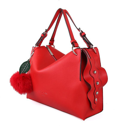 Red Cuckoo Red with Cherry Handbag