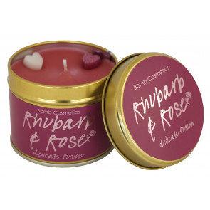 Rhubarb & Rose Tin Candle