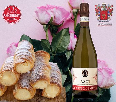 Valentine's Gift Box ASTI SPUMANTE  and  Cream Cannoli
