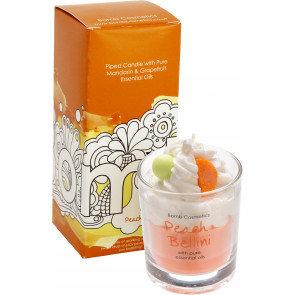 Peach Bellini Piped Glass Candle