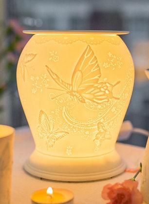 Cello Porcelain Electric Melt Burner - Silk Wings