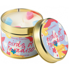 Birds of Paradise Tin Candle