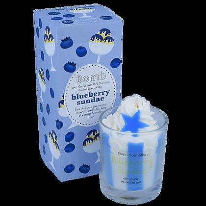 Blueberry sundae Glass Candle