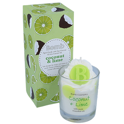Coconut and  lime Glass Candle