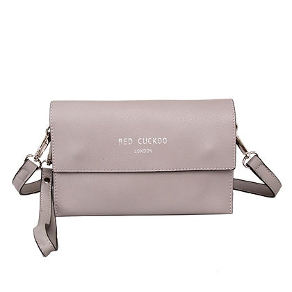Red Cuckoo Small Grey Clutch