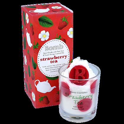 Strawberry tea Glass Candle