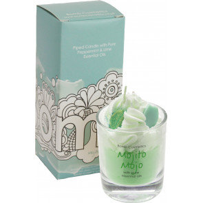 Mojito Mojo Piped Glass Candle