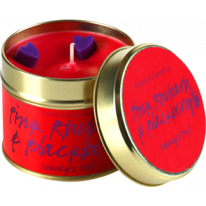 Pink Rhubarb & Blackberry Tin Candle