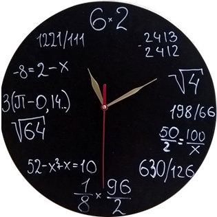 """Часы """"Доска с примерами"""""""