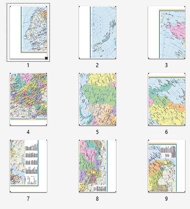 Административная карта России для склейки (А3)