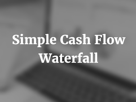 Simple Cash Flow Waterfall