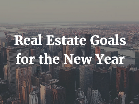 Real Estate Goals for the New Year - 2017