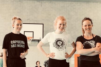 training & smiling, Capoeira Workshop Zürich 2019