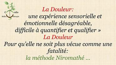 douleur niromathe - Coralie Réflexothéra